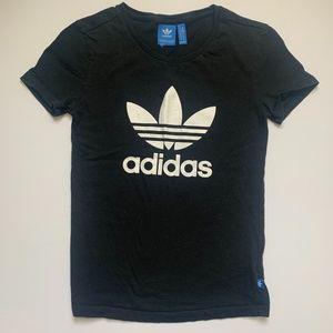 Adidas Black Trefoil Tee Top Women Shirt